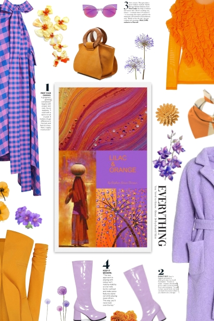 lilac and  orange - spring 2021