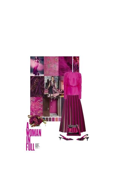 Michael Kors Pleated striped skirt
