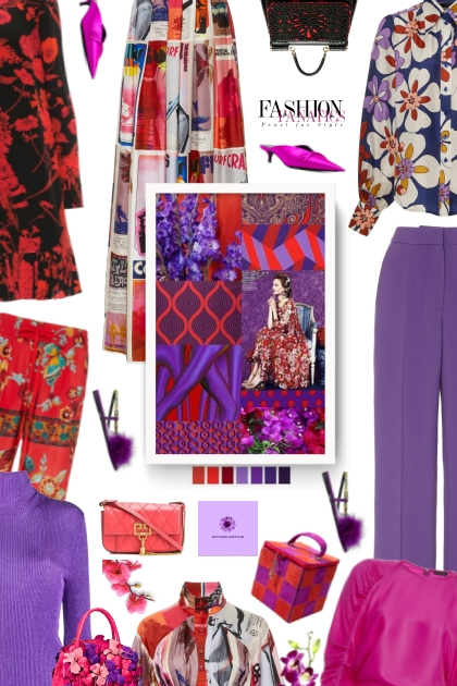 lilac/red