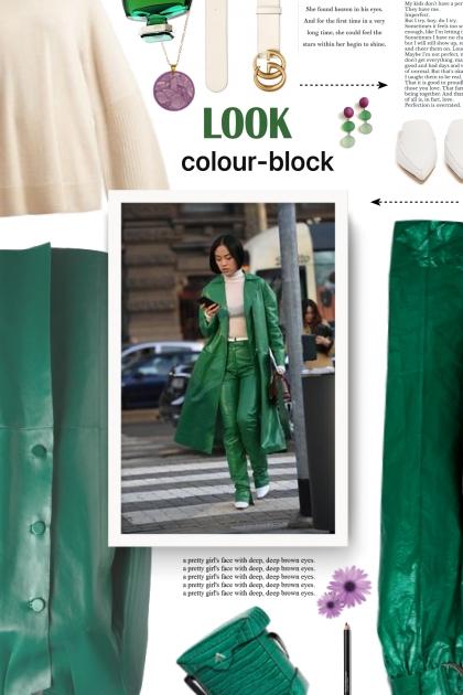 green look- Modna kombinacija