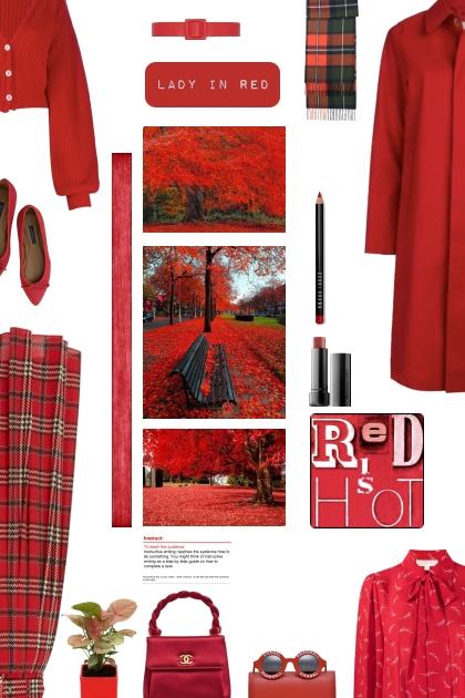 red is hot- combinação de moda