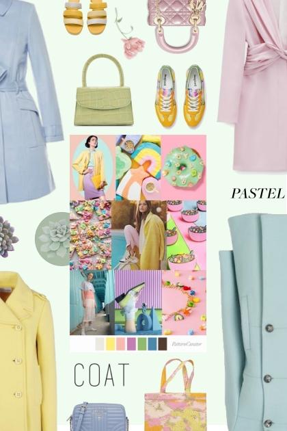 pastel coat 2021- combinação de moda