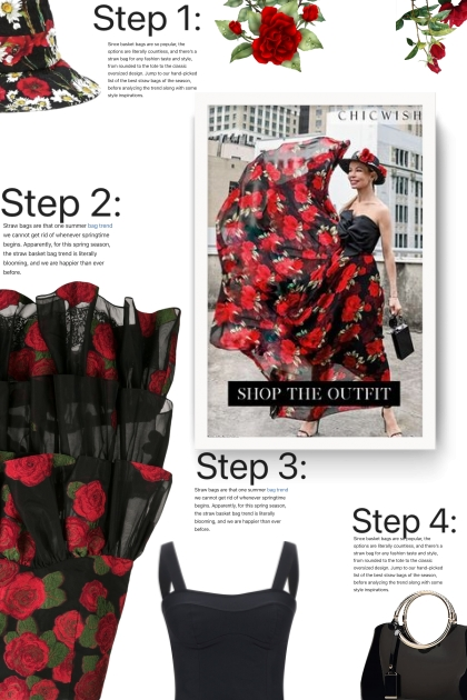 roses ruffle skirt