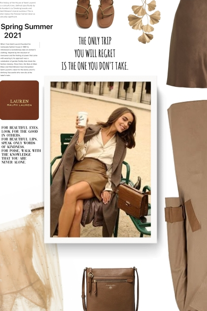 Two-tone trench coat - Fashion set