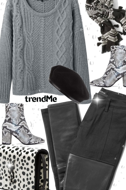 Pattern Mixing-Greys,White and Black