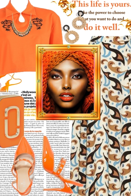 Orange Fall Top