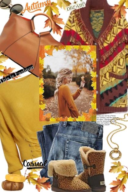 Colorful Autumn Cardigan