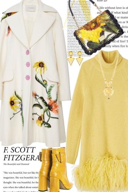 Yellow Sweater Dress