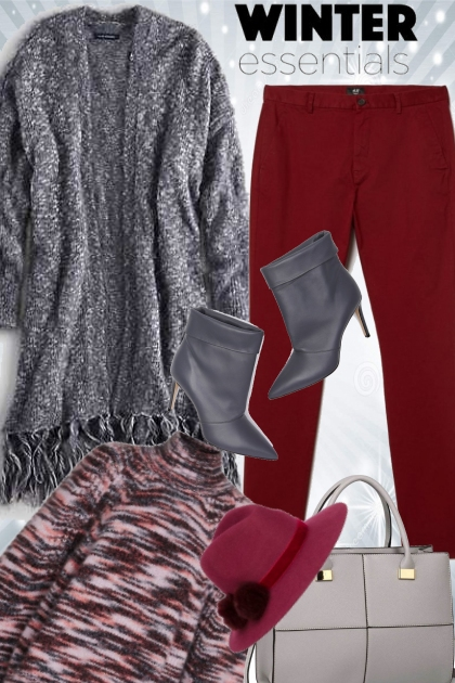Cranberry and Grey