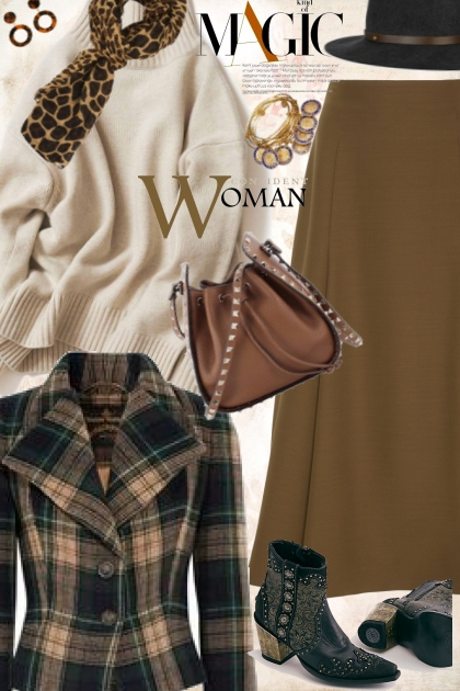 Boho Plaid-Cream and Tan