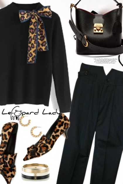Leopard Print and Black Sweater