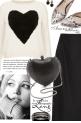 Black & White Heart Sweater