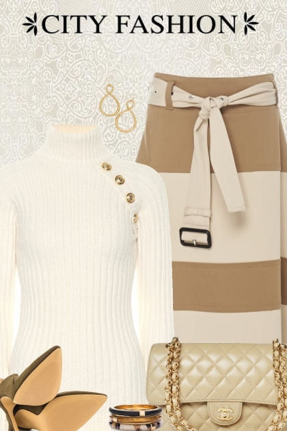 Camel and Cream Skirt