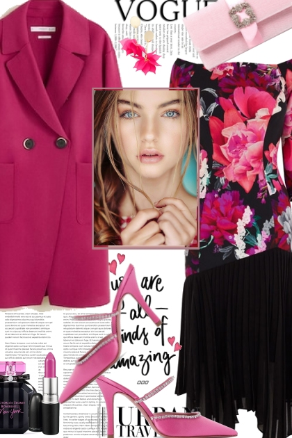 Hot Pink And Floral