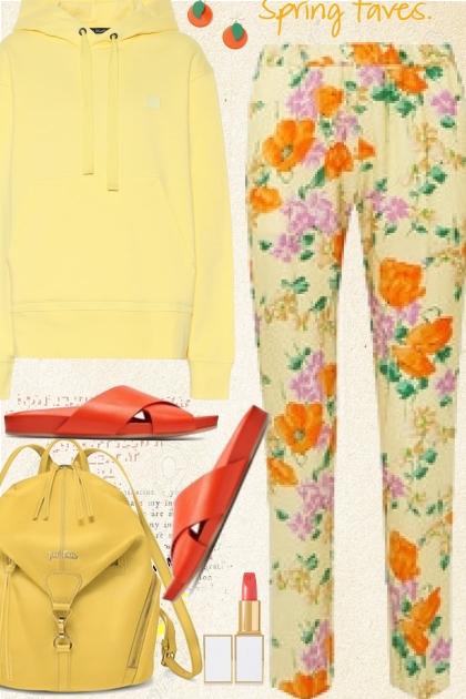 Bright Floral Pants