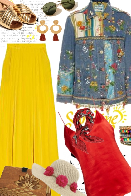 Boho Red and Yellow
