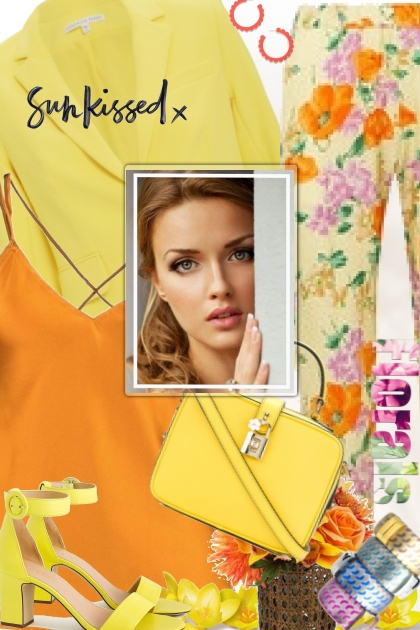 Orange and Yellow Floral