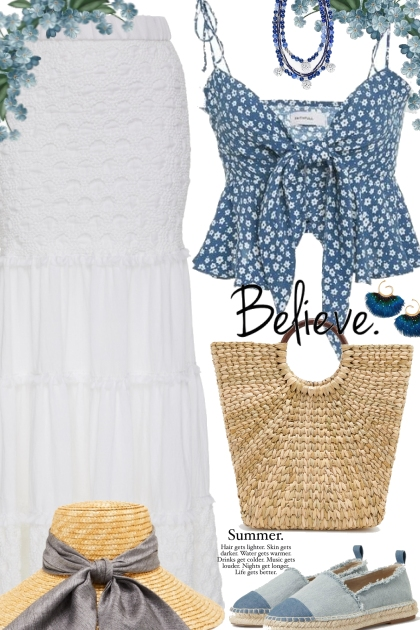 Hello Summer Blue and White