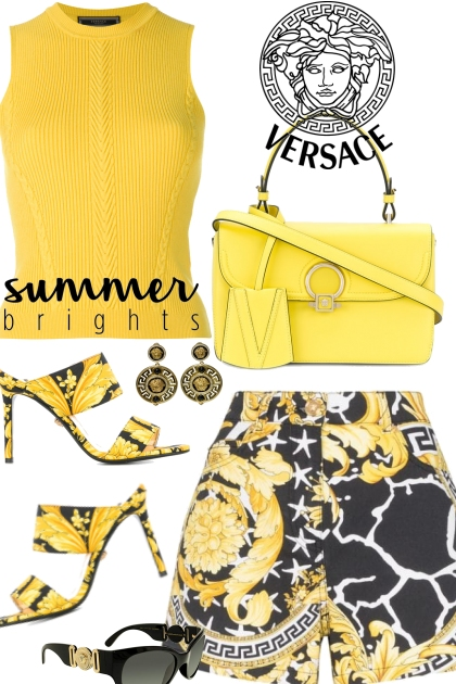 Versace Black and Yellow Set