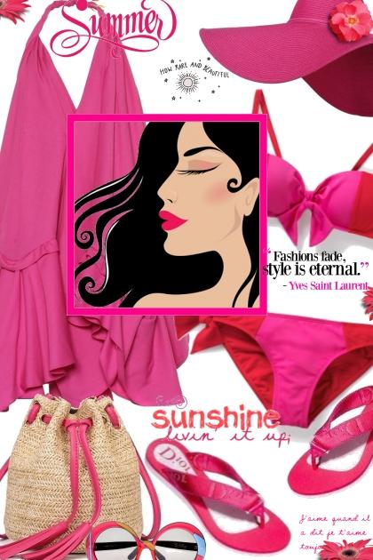 Hot Pink Dior Sandals