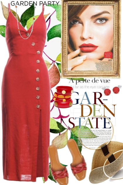 Garden Party Red Dress