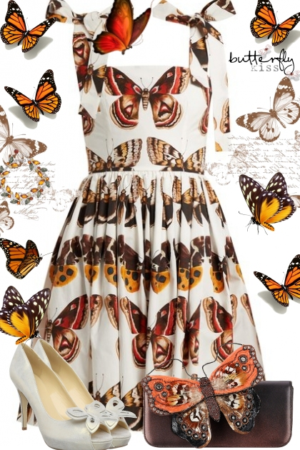 D&G Butterfly Dress- Fashion set