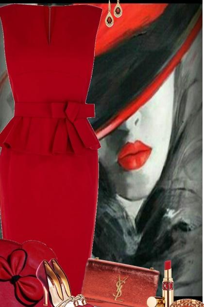 Summer Night Red Dress