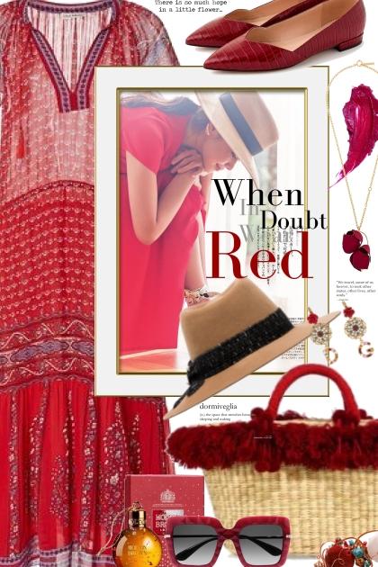 Boho Red Dress-Sunshine Shades
