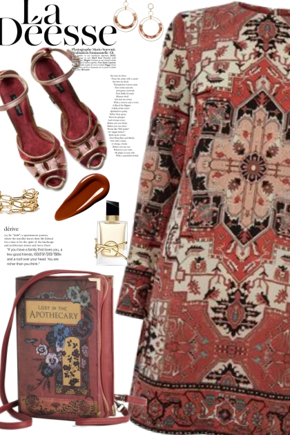 Tapestry Rusty Red Dress
