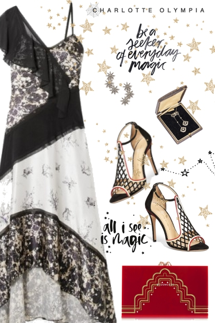 Charlotte Olympia Pumps and Clutch- Fashion set