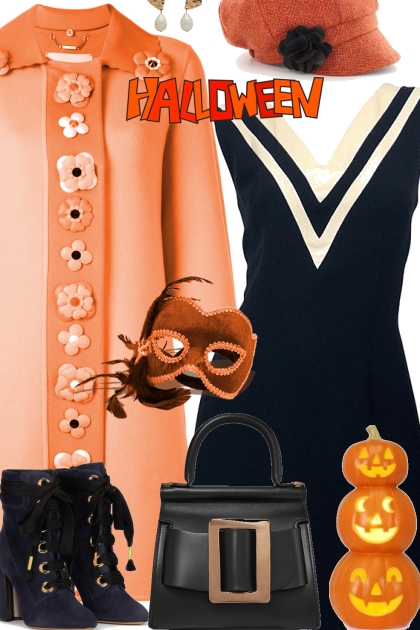 A Vintage Orange and Black Halloween