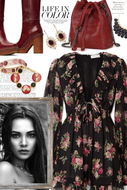 Floral Dress For Autumn