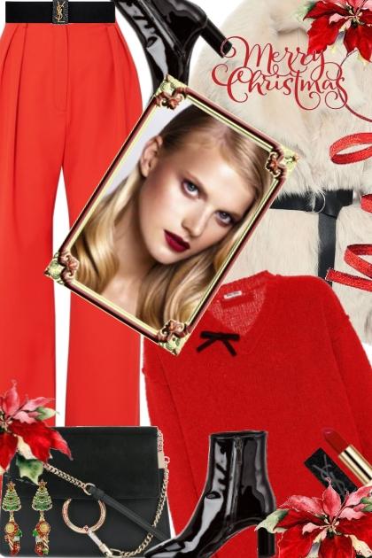 Christmas Poinsettia Red