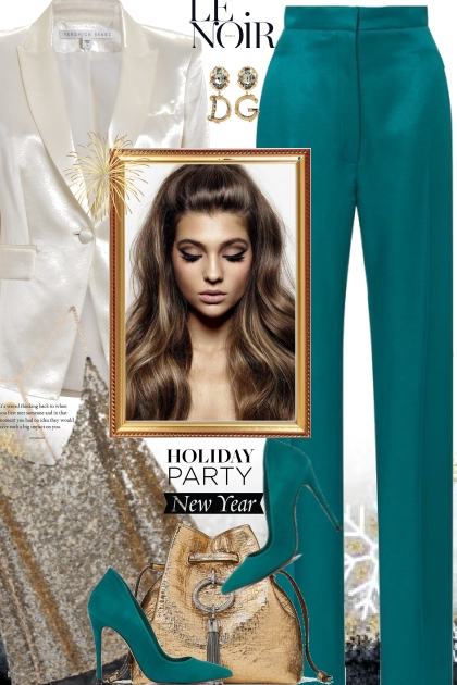 Teal Satin Pants- Fashion set