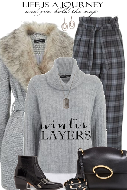 Grey Sweater- Fashion set