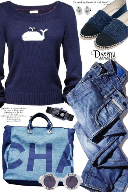 Navy Chanel Casual