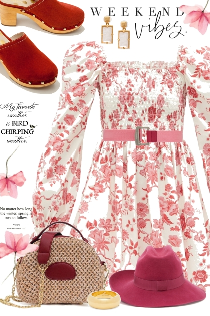 Floral Red and Cream