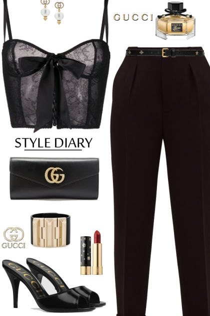 Gucci Black Slides