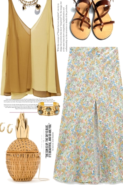 Floral Print Skirt-Boho