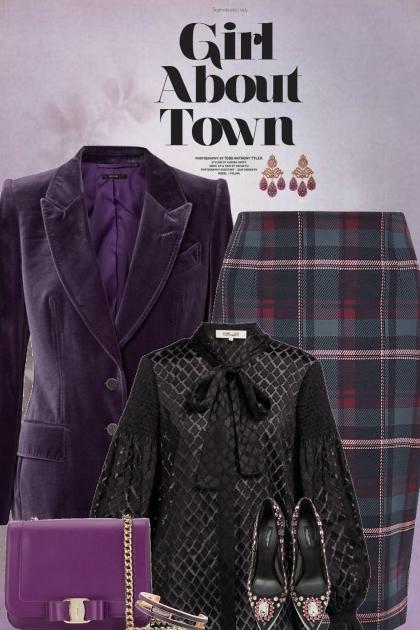 Purple And Black Set