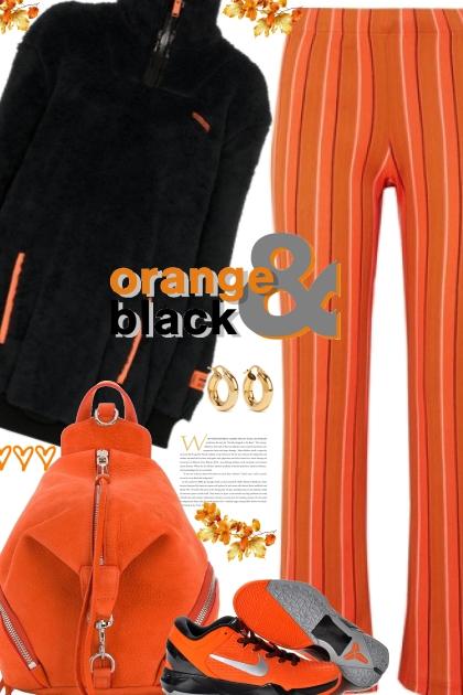 Orange and Black Nike