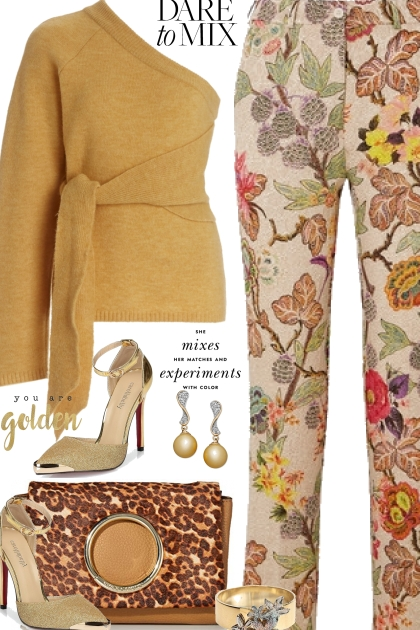 Fall Floral Pants
