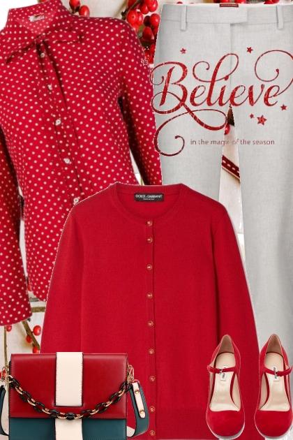 Red Valentino Polkadot Blouse