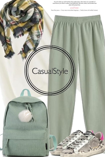 Casual Mint Joggers