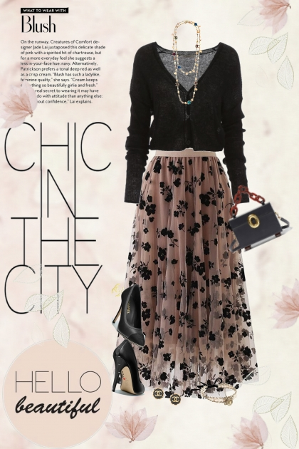 Black And Blush With Chanel Pumps