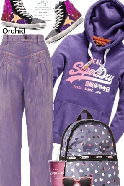 Purple Hoodie- Modna kombinacija