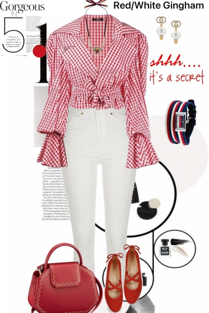 Red/White Gingham Blouse