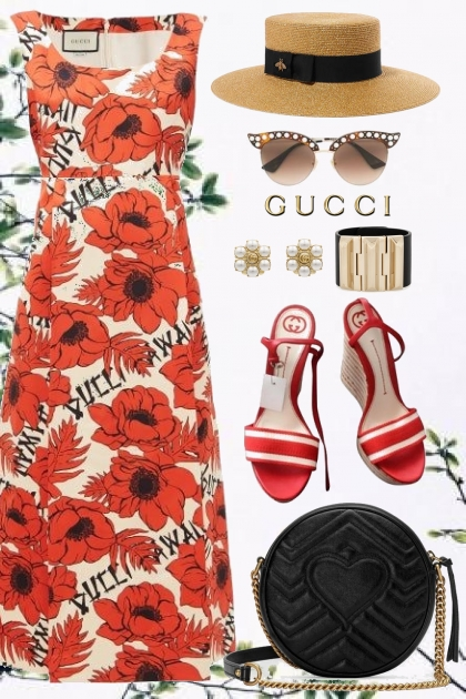 Gucci Floral Dress