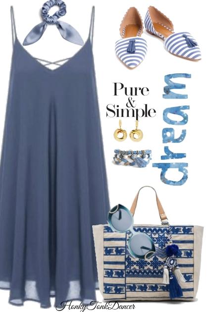 Blue Dress- Combinaciónde moda