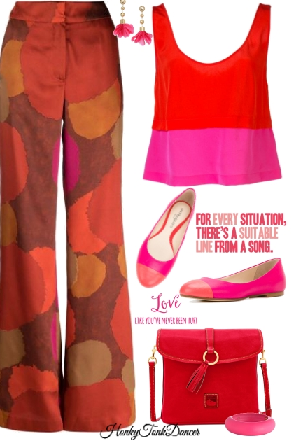 Hot Pink And Red Tank